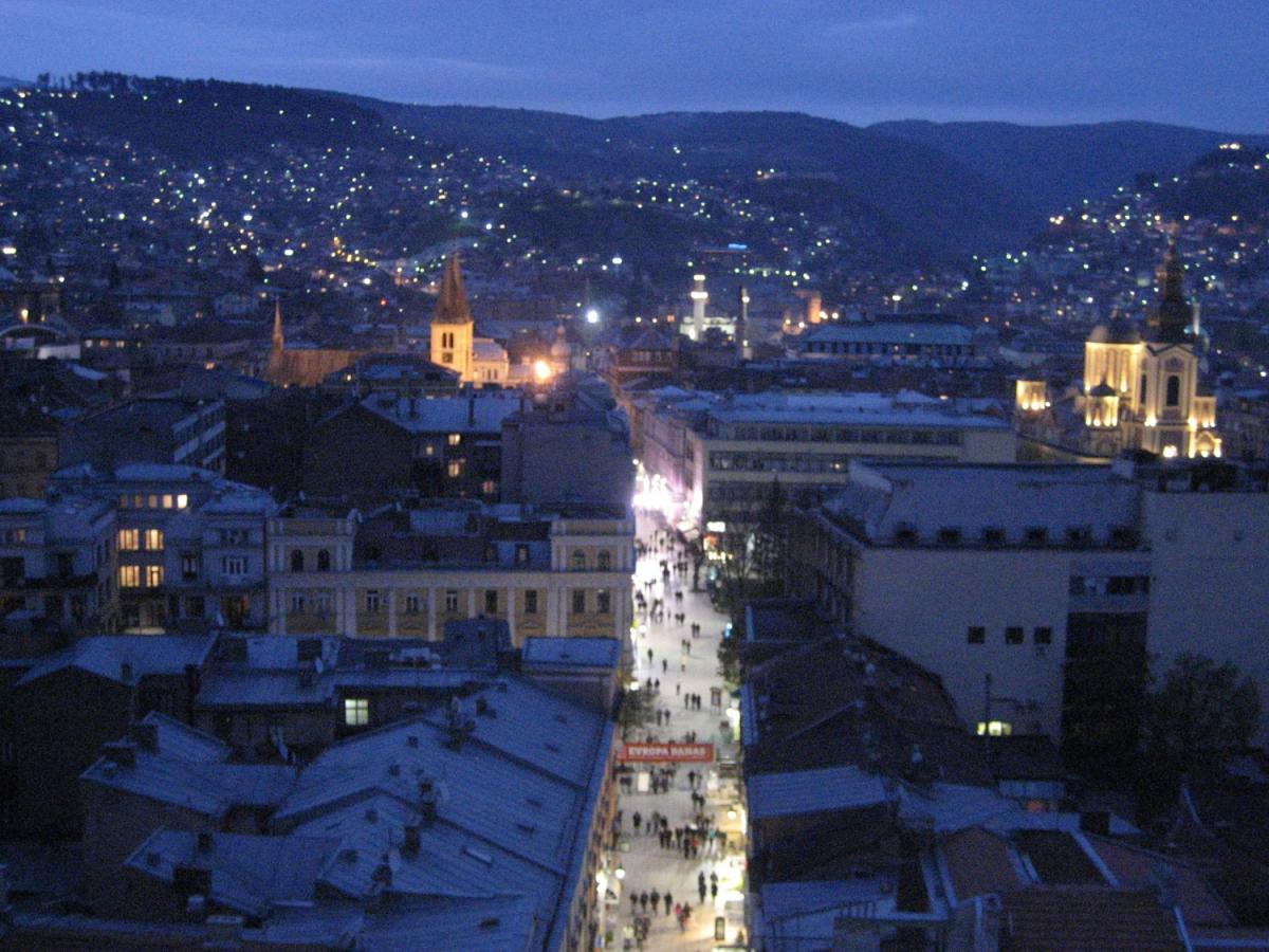 Sarajevo view at night